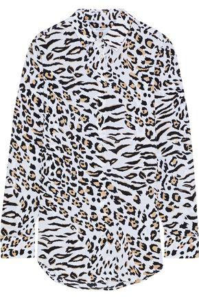 EQUIPMENT Leopard-print washed-silk shirt
