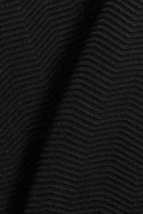 WOLFORD Asymmetric stretch-knit top