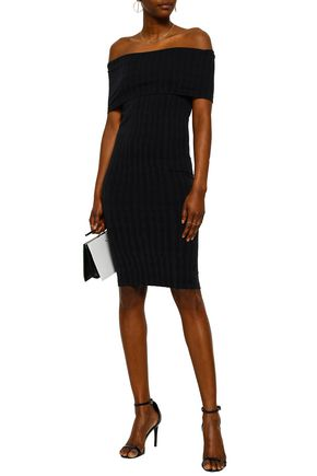 WOLFORD Off-the-shoulder stretch-modal jersey dress