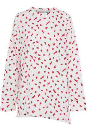 MARNI Asymmetric printed cotton-poplin tunic