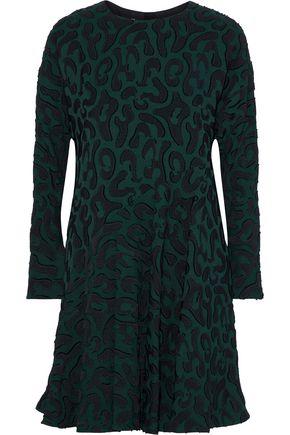 MARNI Ruffled fil coupé crepe mini dress