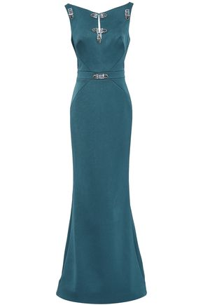 ZAC POSEN Embellished satin gown
