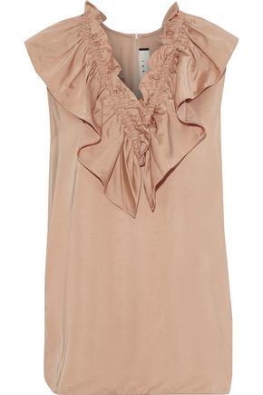 MARNI Ruffled satin blouse