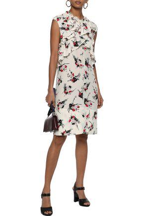 70b2fa9fbbd9 MARNI Ruffle-trimmed floral-print silk crepe de chine dress