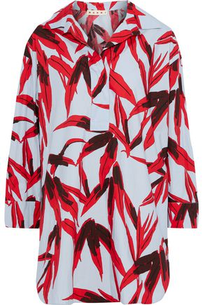 MARNI Printed cotton-poplin tunic