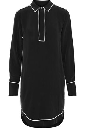 EQUIPMENT Felix washed-silk mini shirt dress