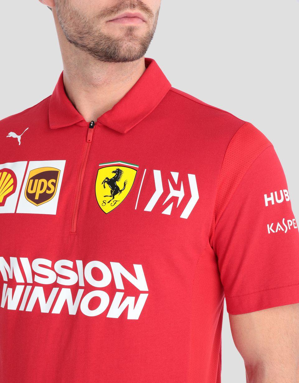 Scuderia Ferrari Online Store - Scuderia Ferrari 2019 Replica men's polo shirt - Short Sleeve Polos