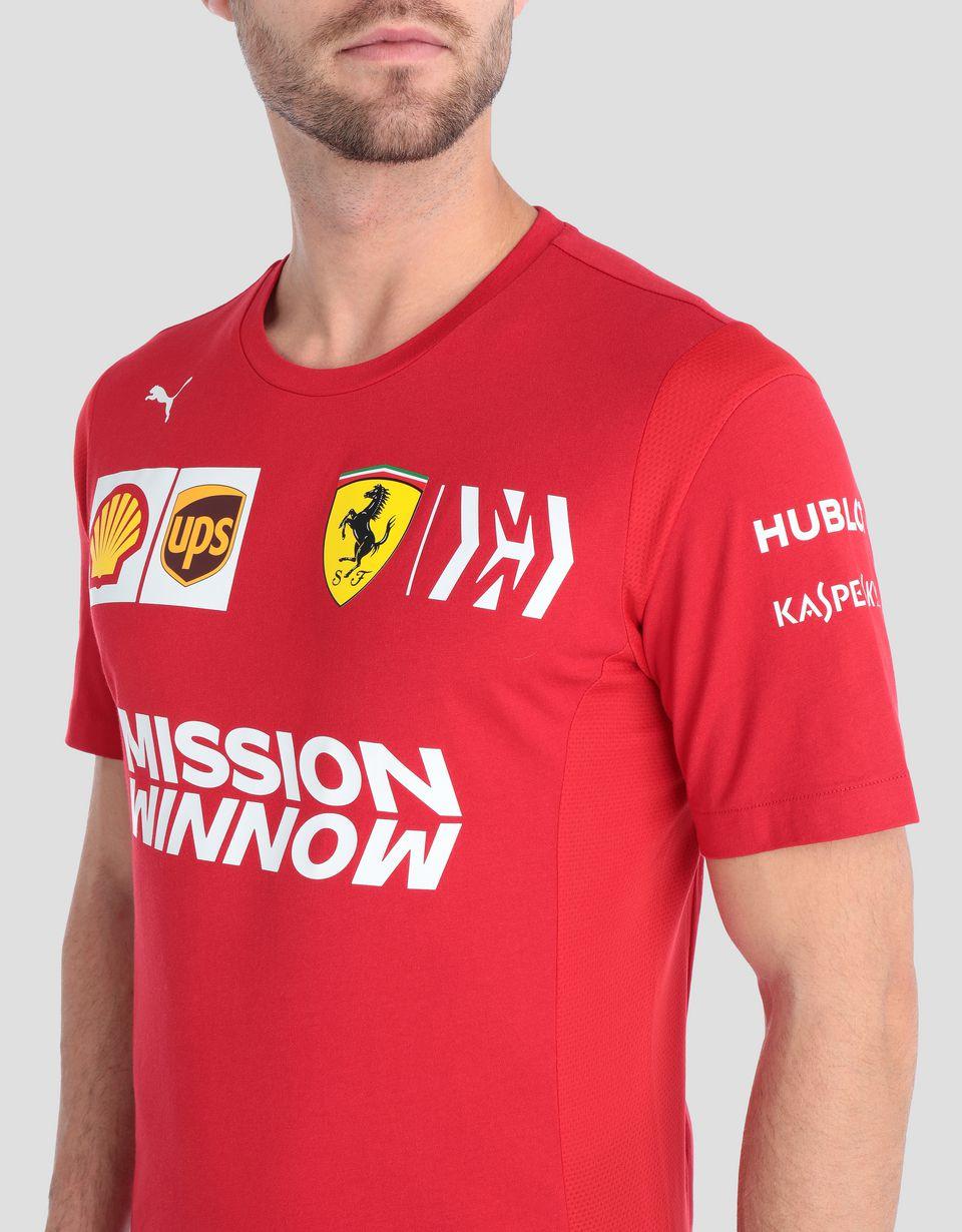 Scuderia Ferrari Online Store - T-Shirt Scuderia Ferrari Replica für Herren 2019 - Kurzärmelige T-Shirts