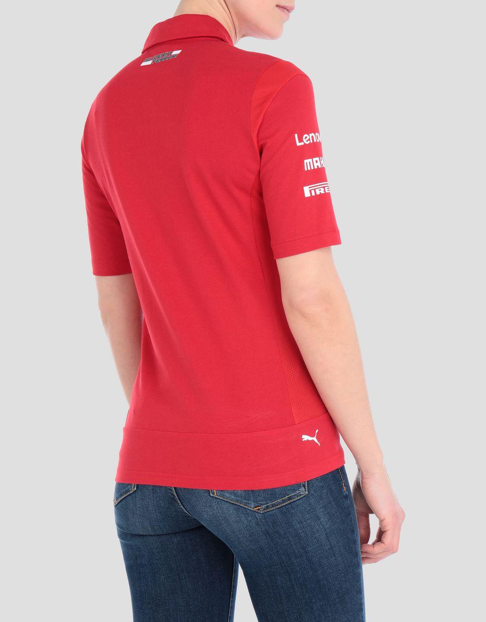 Scuderia Ferrari Online Store - Scuderia Ferrari 2019 Replica women's polo shirt - Short Sleeve Polos
