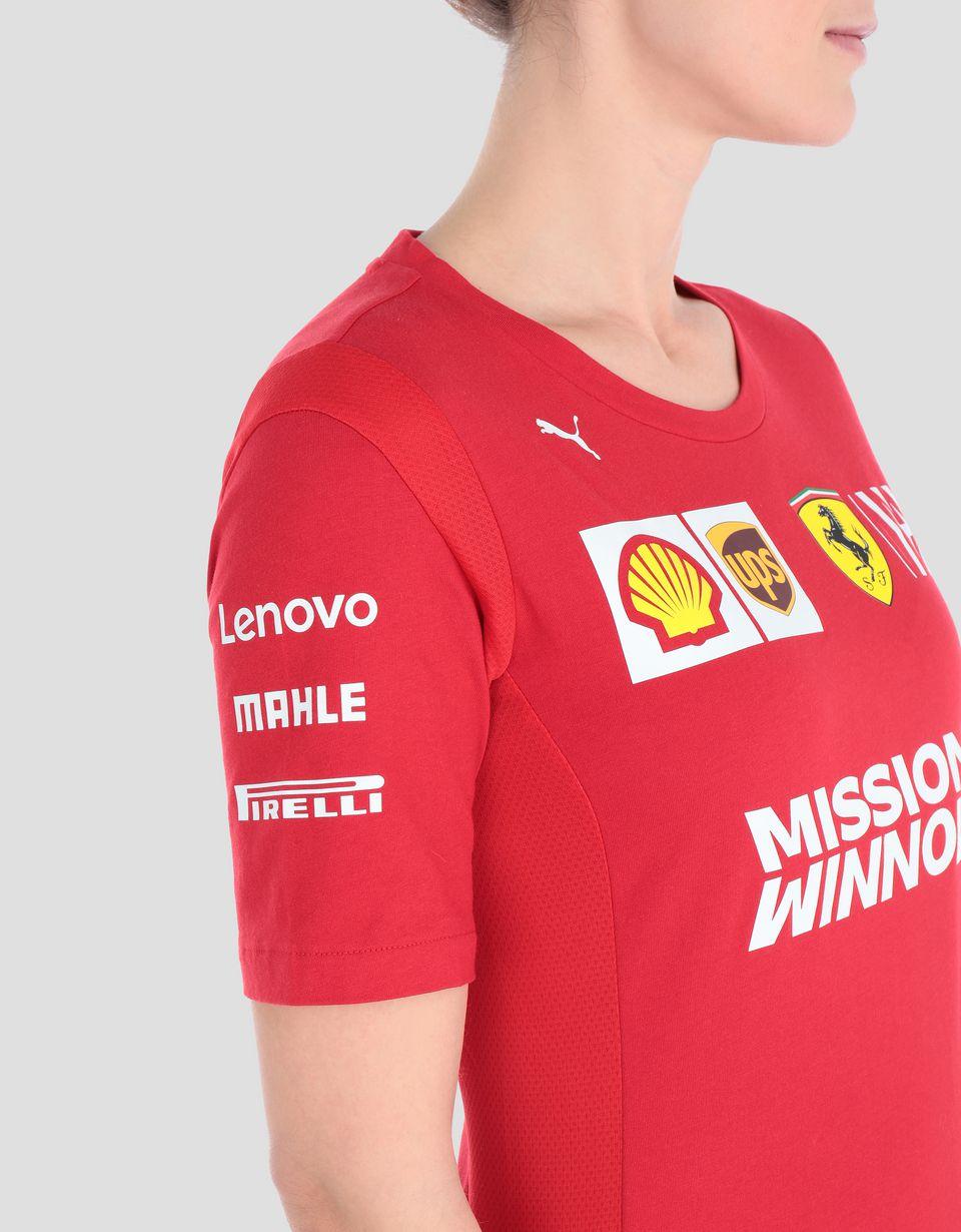 Scuderia Ferrari Online Store - Женская футболка Scuderia Ferrari Replica 2019 - Футболки с короткими рукавами