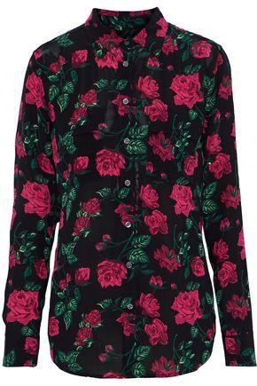 EQUIPMENT Slim Signature floral-print washed crepe de chine shirt