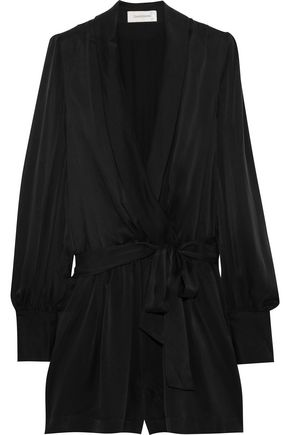 ZIMMERMANN Wrap-effect washed-silk playsuit