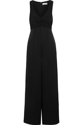 ZIMMERMANN Ruched faille jumpsuit