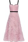 MARCHESA NOTTE Ruched tulle gown