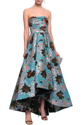 4fc090940955 MARCHESA NOTTE Strapless brocade and fil coupé gazer gown