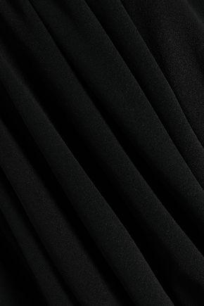 NORMA KAMALI Strapless shirred stretch-jersey jumpsuit