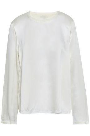 MAJESTIC FILATURES Cotton, cashmere and silk-blend top