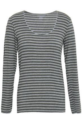 MAJESTIC FILATURES Striped stretch-jersey top