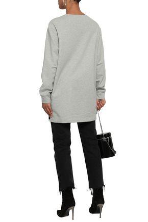 NORMA KAMALI Stretch-jersey and French terry sweatshirt