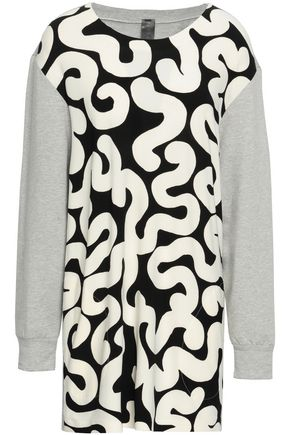 NORMA KAMALI Stretch-jersey and French terry sweatshirt