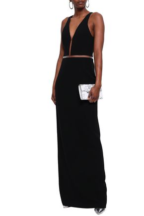 ALEXANDER WANG Lattice-trimmed crepe gown