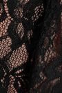 MARCHESA NOTTE Velvet-trimmed lace peplum top
