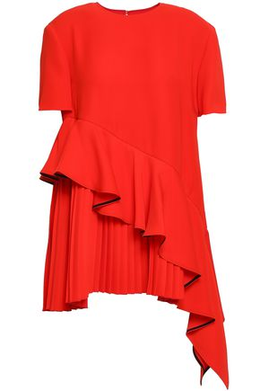 ADEAM Ruffled crepe top