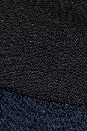 BADGLEY MISCHKA Stretch-crepe halterneck gown