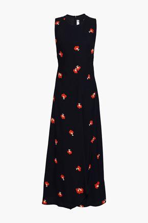 VICTORIA BECKHAM Floral-print crepe midi dress