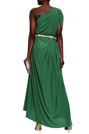 NORMA KAMALI One-shoulder ruched stretch-jersey maxi dress
