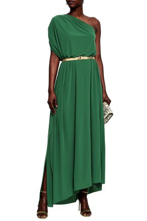 0525ea8d4338 NORMA KAMALI One-shoulder ruched stretch-jersey maxi dress
