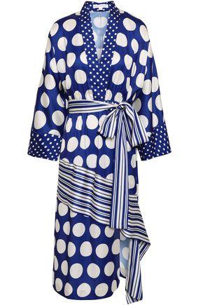 ROBERT RODRIGUEZ Asymmetric polka-dot twill dress