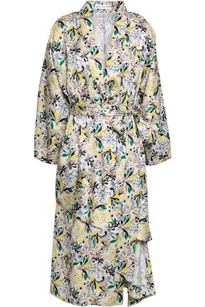 ROBERT RODRIGUEZ Asymmetric floral-print twill dress