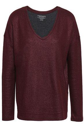MAJESTIC FILATURES Cotton and cashmere-blend top