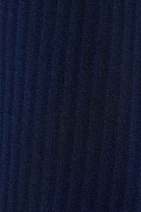IRIS & INK Belinda striped burnout crepe shirt