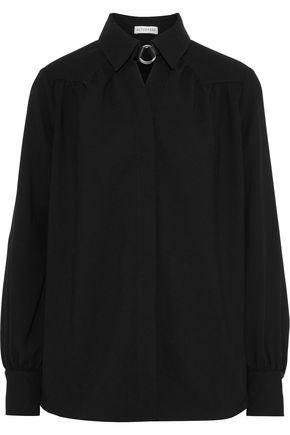 ALTUZARRA Ring-embellished crepe shirt