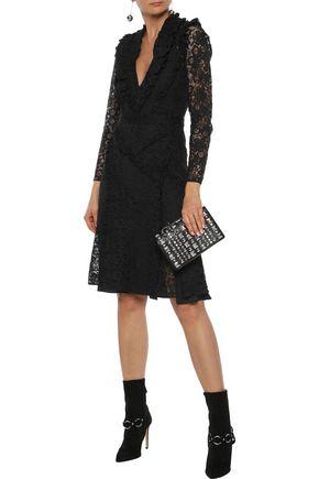 9cea90b6cc2b ALTUZARRA Ourika ruffle-trimmed cotton-blend lace dress