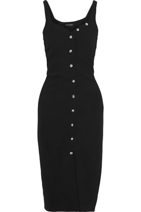 NARCISO RODRIGUEZ Button-embellished wool-crepe dress