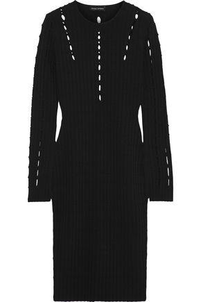NARCISO RODRIGUEZ | Narciso Rodriguez Cutout Ribbed-Knit Dress | Goxip