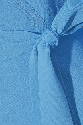 DIANE VON FURSTENBERG Stretch-knit mini wrap dress