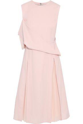 ADEAM Cold-shoulder wool-blend dress