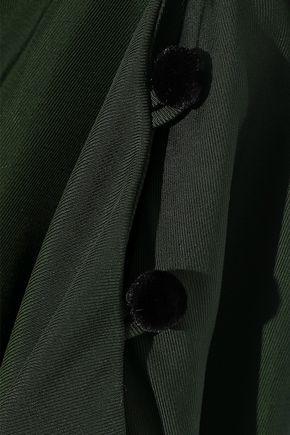 ADEAM Belted gathered twill tunic