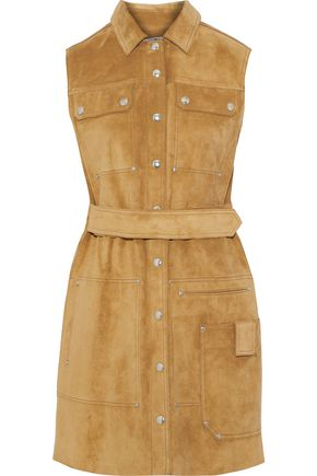 ACNE STUDIOS Scala belted suede mini dress