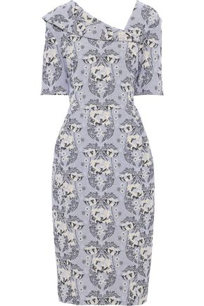 ZAC POSEN Cotton-blend jacquard dress