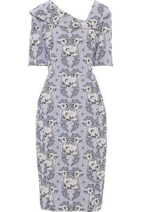 ZAC POSEN Cotton-blend jacquard dress