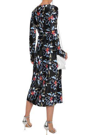 DIANE VON FURSTENBERG Tilly floral-print silk-satin midi wrap dress