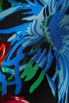 DIANE VON FURSTENBERG Elly floral-print stretch-cady shirt dress