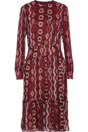 ALTUZARRA Agadir asymmetric printed silk-georgette dress
