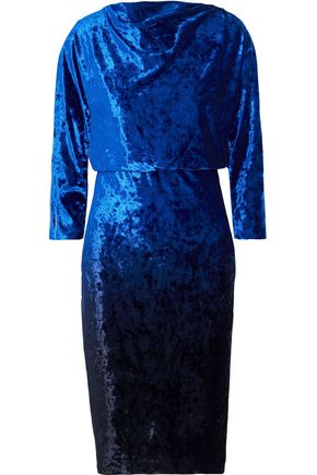 BADGLEY MISCHKA Draped velvet dress