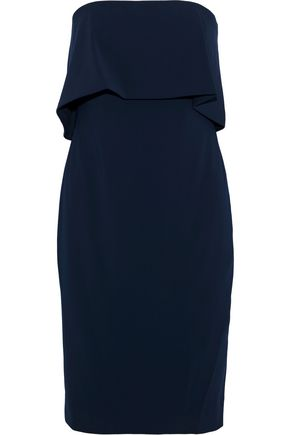 BADGLEY MISCHKA Strapless layered stretch-cady dress